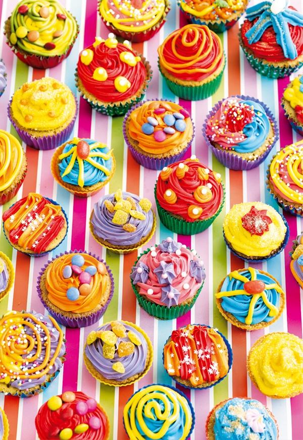 """Puzzle EDUCA """"Cupcakes de colores"""", 500 piezas."""