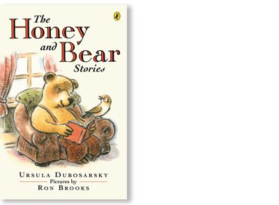 'The Honey and Bear Stories' written by Ursula Dubosarsky, illustrated by Ron Brooks, published by Allen & Unwin, 2010. Signed picture book available at Books Illustrated. http://www.booksillustrated.com.au/bi_books_indiv.php?id=41&image_id=60