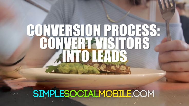 The conversion process is when you convert visitors into leads by offering something of value for their contact information.