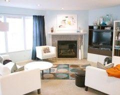 Idea On Furniture Arrangement In Odd Shaped Room Oddly Shaped Living Rooms Pinterest I