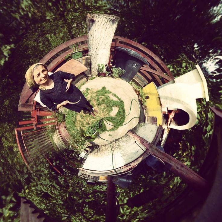 #Grandma #fisheye #tinyplanet #asmallworld #bbq #village