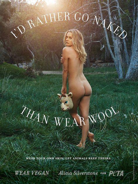 Alicia Silverstone uit de kleren voor PETA|Prive| Telegraaf.nl