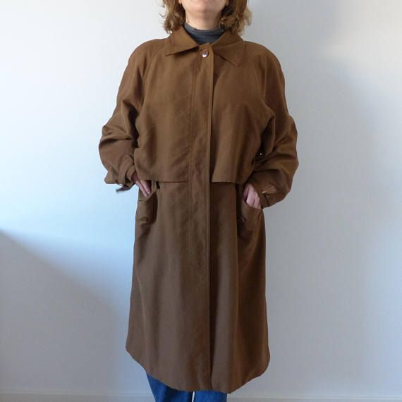 a4398ca3a 80s Vintage Burberry Trench Coat brown gabardine unisex | Happy New ...