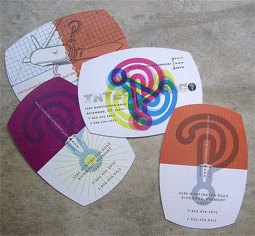 Image: Interrobang Design  A personal colorful business card.