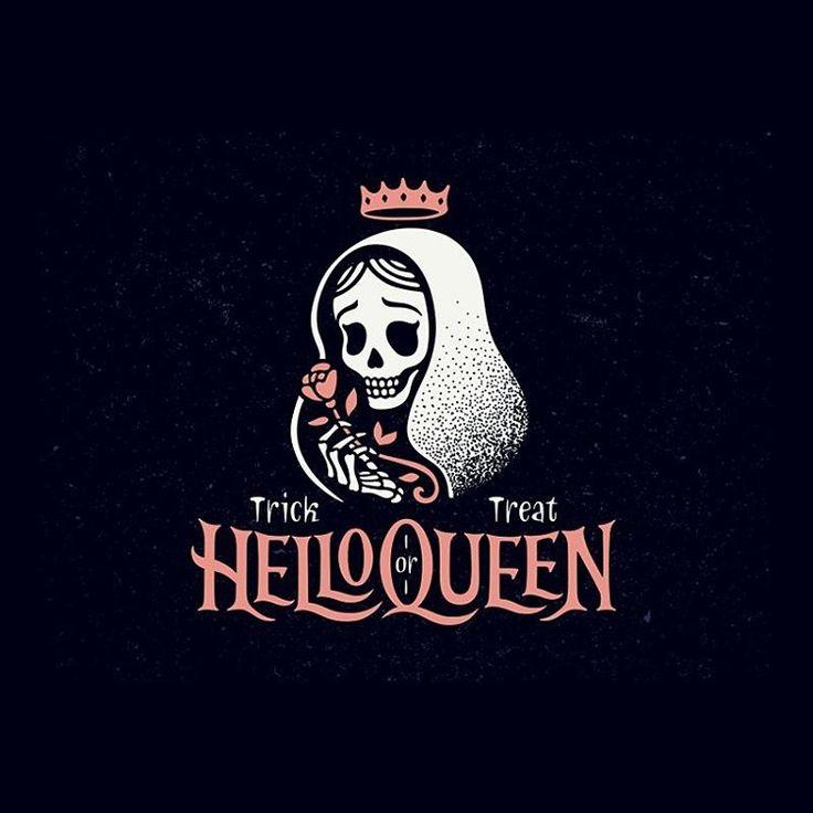 "4,359 Me gusta, 15 comentarios - Logo Inspirations (@logoinspirations) en Instagram: ""CLICK THE LINK IN OUR BIO for more cool #Halloween logos  -  HelloQueen by Alexa Erkaeva @erkaeva"""