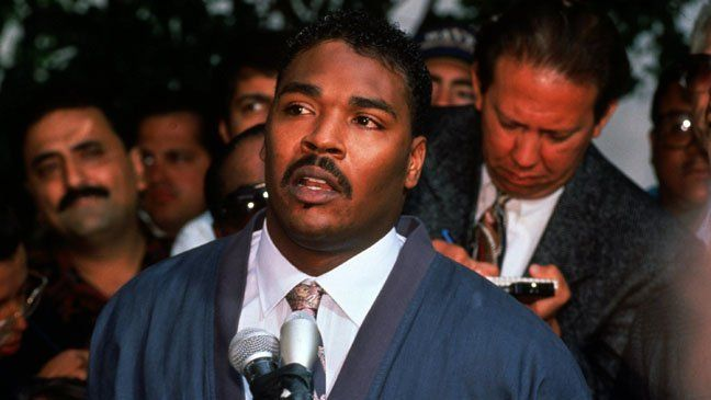 Rodney King The not-guilty verdict for King's beating case against the LAPD was broadcast April 29, 1992, and immediately incited riots around South Central Los Angeles