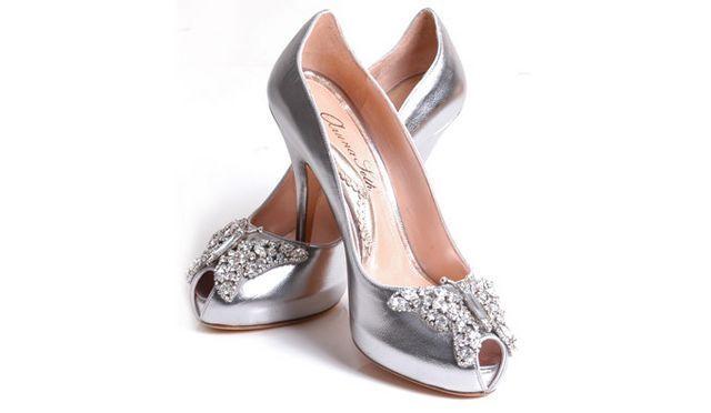 Resultado de imagen para zapatos plateados de fiesta