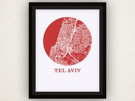 Tel Aviv Map Print - City Map Poster