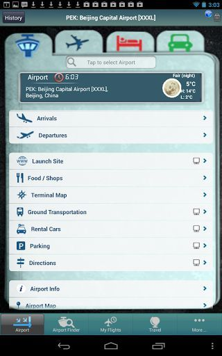 Flight Tracker Premium <br>Beijing Capital International Airport (PEK) is the largest airport in China as well as the largest airport in Asia. It is the located 32 kilometers northeast of the city. The airport is a hub for China Southern Airlines, Air China and Hainan Airlines and a focus city for China Eastern Airlines. This app provides complete information including parking, food and restaurants, terminal maps, directions and more. <p>No other app provides as much information --useful…