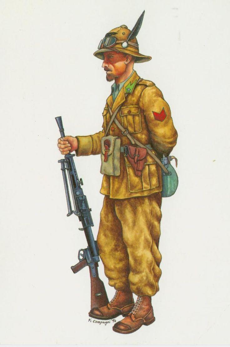 Regio Esercito - Caporalmaggiore Alpino del Battaglione Uork Amba, 1941