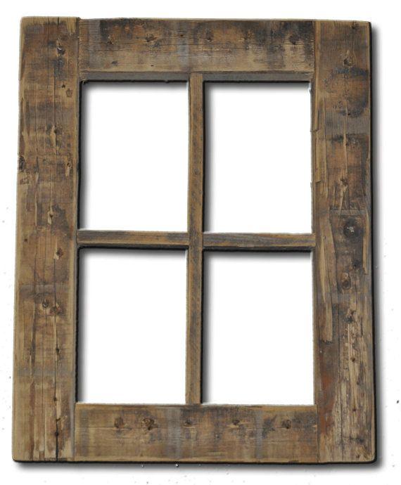 Rustic Barnwood Window Frame