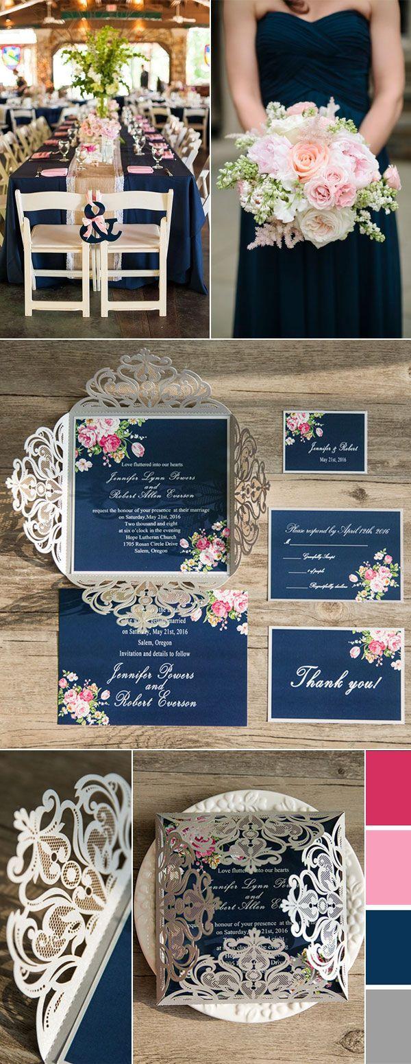 navy blue and kelly green wedding invitations%0A Best     Blush silver wedding ideas on Pinterest   Blush roses  Pink wedding  theme and Pink wedding cakes