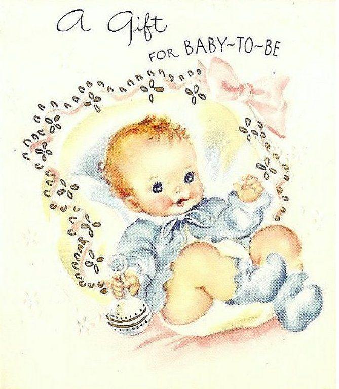 Отправить, открытка с новорожденным мальчиком на английском