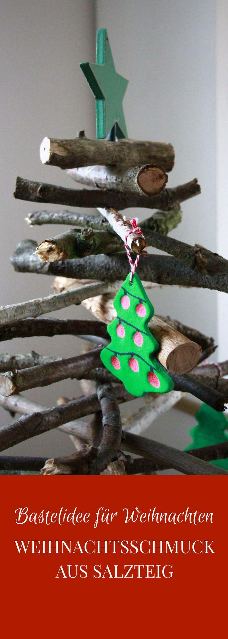 Bastelidee für Weihnachten: Geschenkanhänger und Weihnachtsbaumschmuck aus Salzteig