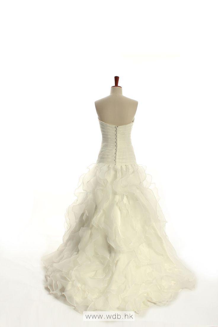 Grace mermaid sweetheart neckline satin organza floor-length wedding dress $355