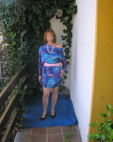 abito raso blu di Mirabell su DaWanda.com