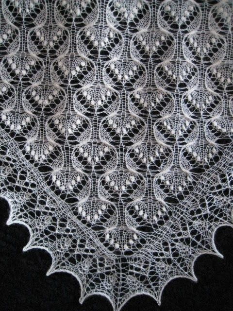 Estonian Jewel by Beatrice Olsson knitting pattern for shawl $10.00 on Ravelry at http://www.ravelry.com/...