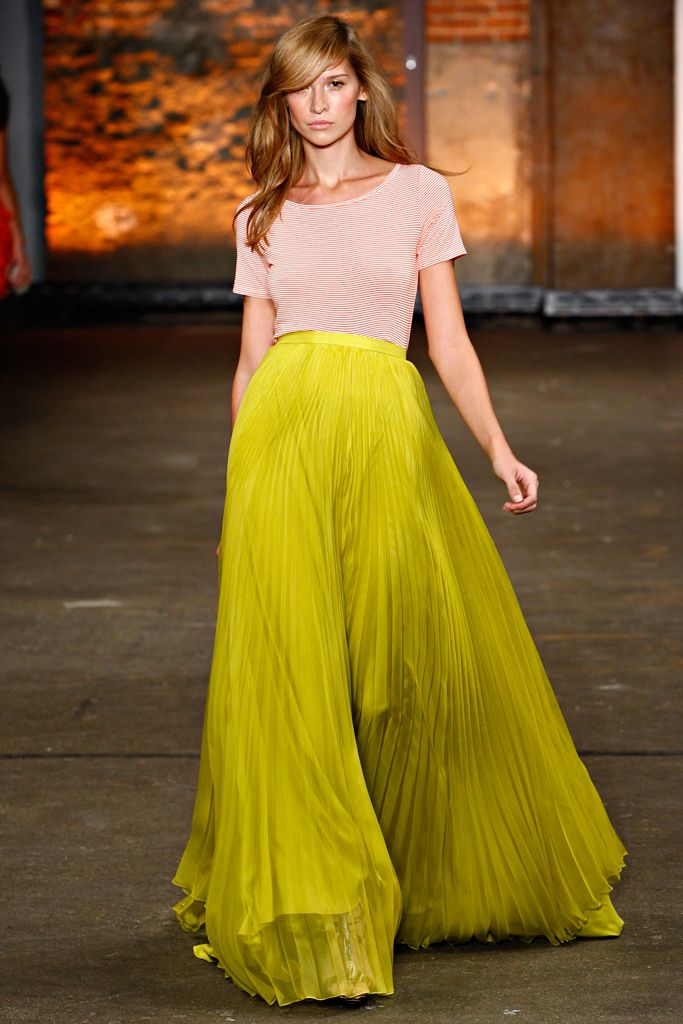 Christian Siriano Spring 2012 Ready-to-Wear Collection.  Chartreuse