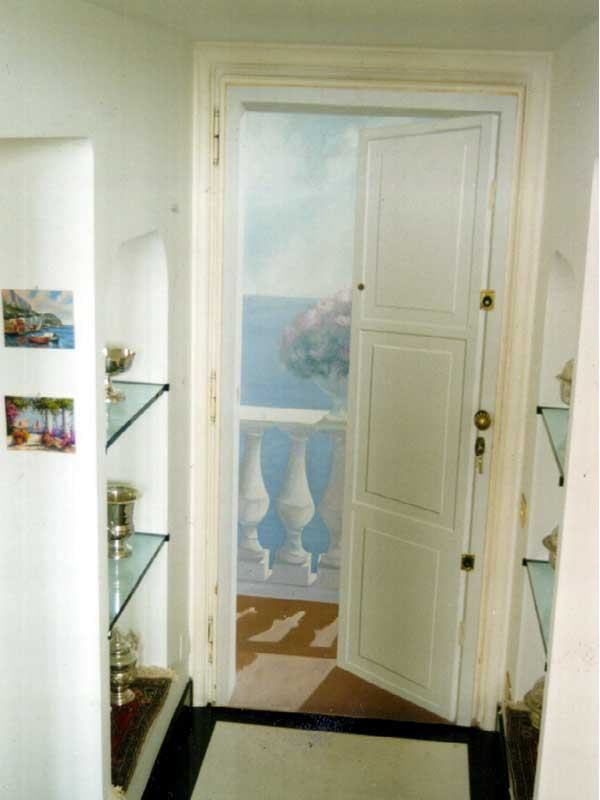 Porta blindata dipinta