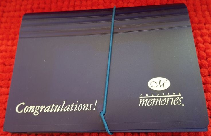 Creative Memories Collection Dark Blue Congratulations Photo Files New NIP #CreativeMemories