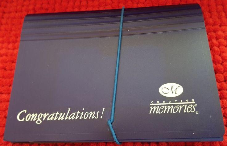 Creative Memories Collection Dark Blue Congratulations Photo Files New NIP #CreativeMemories