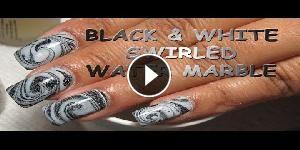 Nail art: Stile Black & White