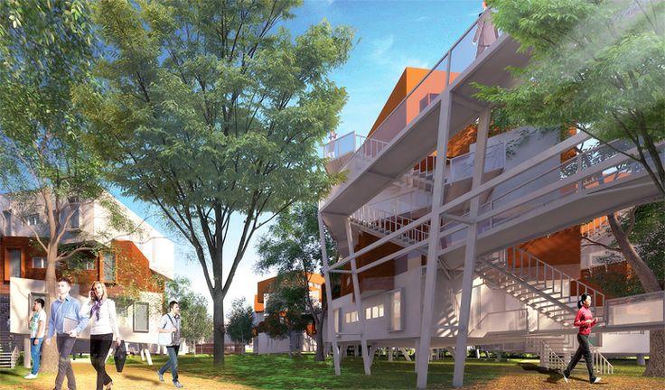 Les résultats du concours pour la construction de l'Ecole Centrale de Casablanca sont connus. Le projet sera réalisé sur un terrain de 5 ha dans la commune urbaine de Bouskoura. La compétition avait été lancée en juin dernier par l'OMPIC (Office Marocain de la Propriété Industrielle et Commerciale). Nous découvrons dans ce dossier des propositions architecturales innovantes et soucieuses de l'environnement.