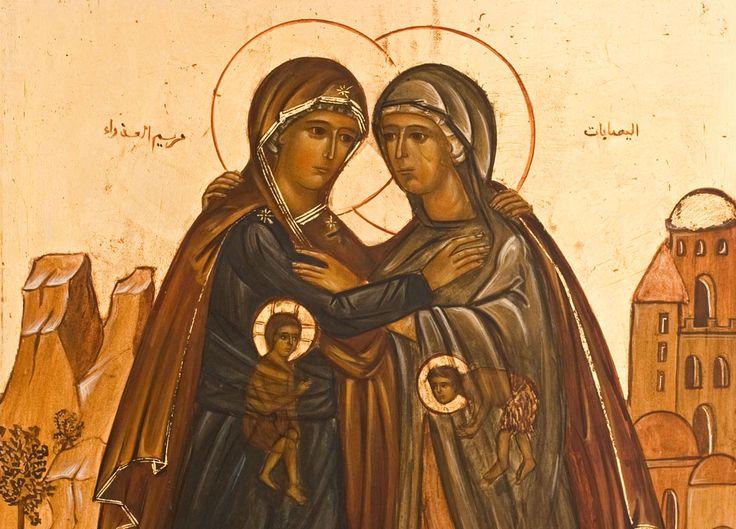 """Ikona """"Nawiedzenie świętej Elżbiety"""". Siostry od Betlejem, od Wniebowzięcia NMP…"""