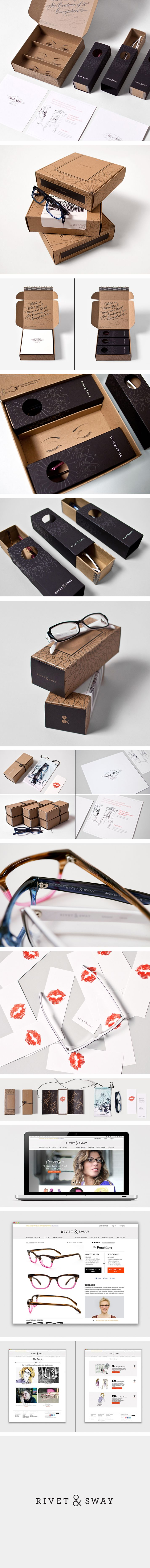 Rivet & Sway.. great identity  we might do a box that opens like this with printing on the inside