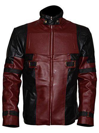 Men's Motorcycle Gaming Leather Deadpool Jacket