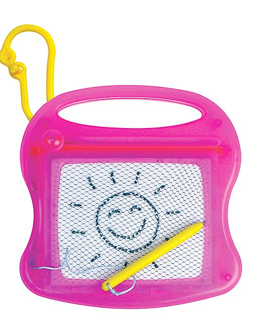 Neon Pink Magnetic Drawing Board