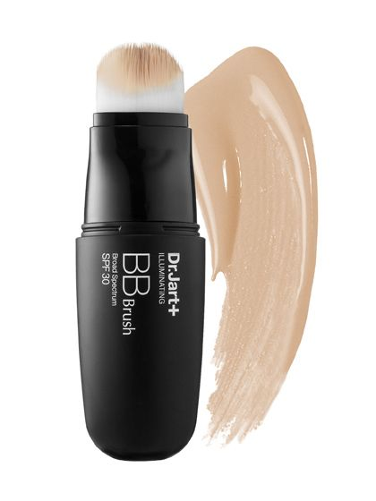 Dr. Jart+ Illuminating BB Brush The formula is built into a brush, so it's easy to sweep it on pretty much anywhere. It leaves a dewy, almost shimmery finish, perfect for brightening up dull skin.  Dr. Jart+ Illuminating BB Brush, $39 (sephora.com).   Photo: Courtesy of Dr. Jart+