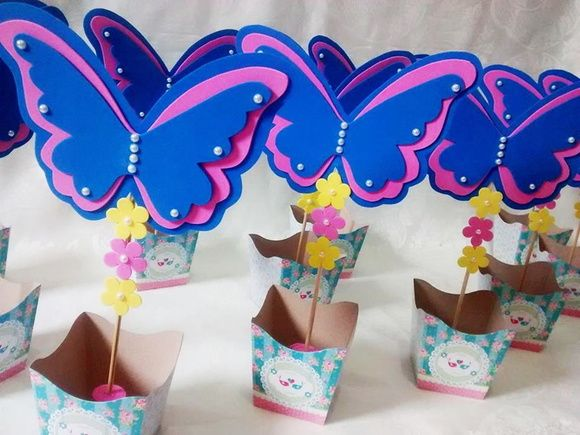 Centro de mesa borboletas / Jardim