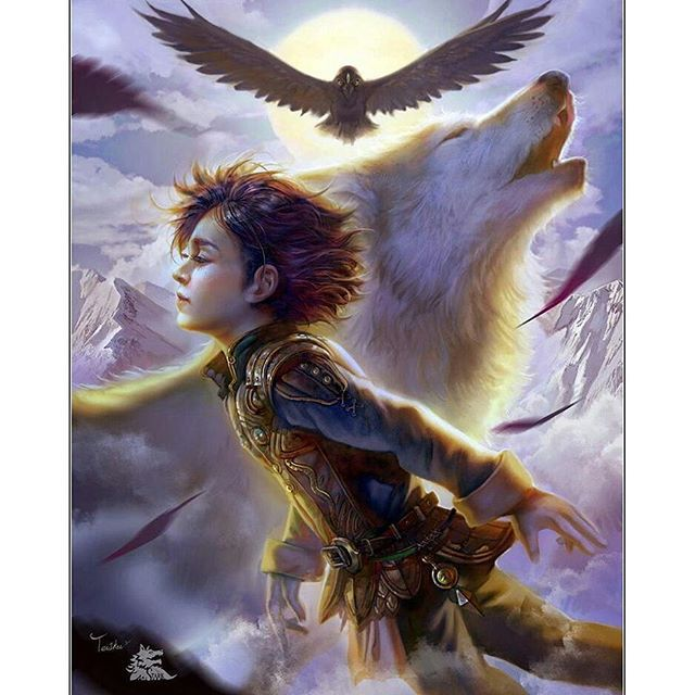 @Regrann from @oursongoficeandfire -  I shared this ages ago, but it's awesome enough to share again! Amazing work by the artist TeiIku!  #asongoficeandfire #asoiaf #asoiaffamily #art #artist #agameofthrones #aclashofkings #astormofswords #afeastforcrows #adancewithdragons #grrm #georgerrmartin #gameofthrones #GameofThronesHBO #GOTfamily #GoT #book #books #reading #coverart #fanpage #fandom #fantasy #branstark #stark #bran #summer #direwolf