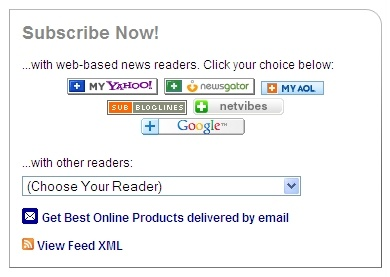 Best Online Products - powered by FeedBurner