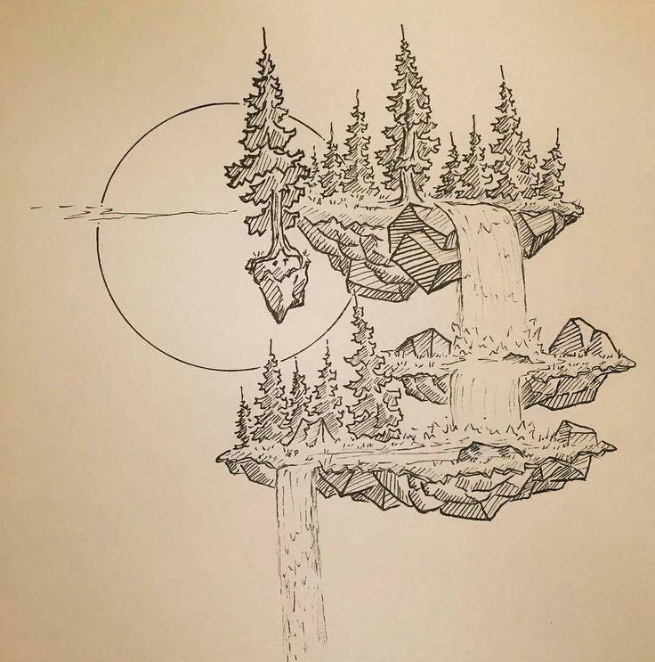 Great #fantasy #landscape #illustration by @dustyb…