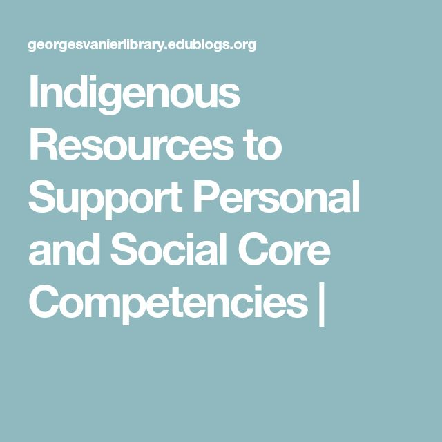 Indigenous Resources to Support Personal and Social Core Competencies |