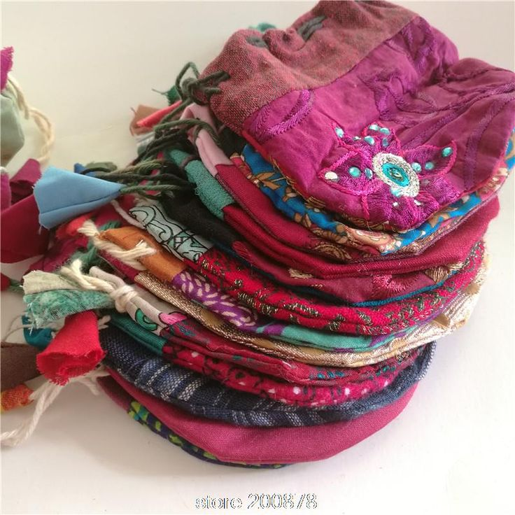 Nepal Hand Cotton Pouches
