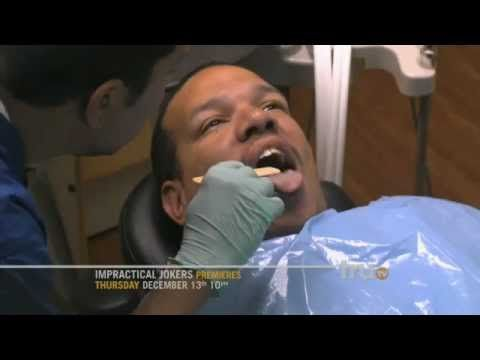 Watch as the Impractical Jokers invade the dentist's office. Actual Friends.  Actual Dares. Actually Funny.  All-new season of IMPRACTICAL JOKERS Thursdays at 10pm starting, Dec 13, only on truTv. Watch full-length episodes of Impractical Jokers and more here: http://www.trutv.com/shows/impractical-jokers/index.html