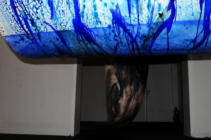 Urszula Wilk_painting installation_Sonata for Blue and 4 rooms