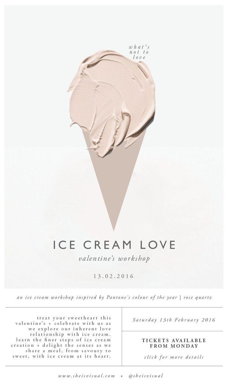 EIS LOVE WORKSHOP Digitales Poster | Entwurf durch SIE IST VISUELL – Yunnica-Plakat….   – Yummy Eis