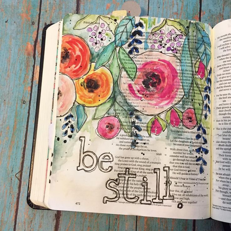Beautiful bible journaling page.