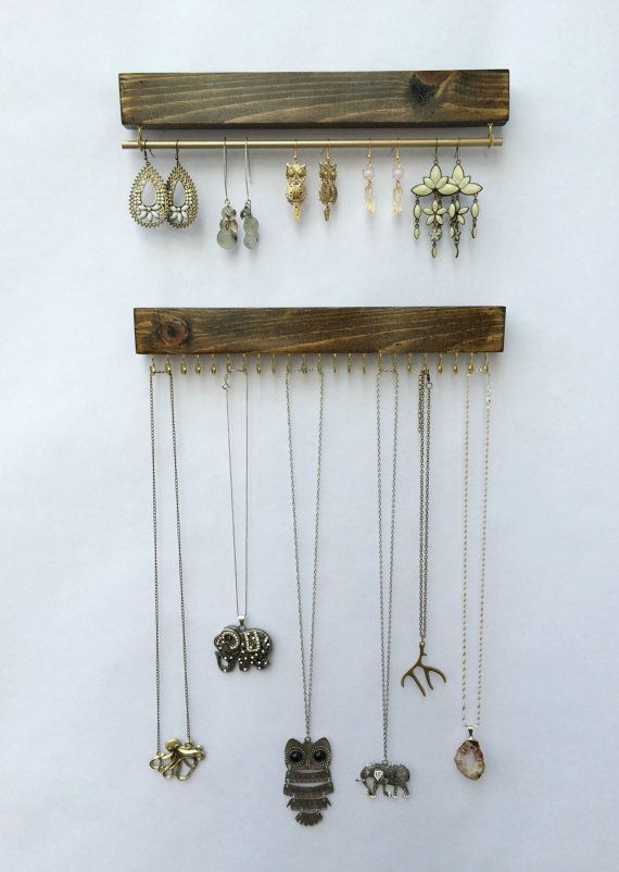 >> Wall Mount Jewellery Organizer, Necklace Holder and Earring Holder {Check more Read More Learn more More info} at { https://www.etsy.com/listing/294643101/wall-mount-jewelry-organizer-necklace?utm_source=OpenGraph&utm_medium=PageTools&utm_campaign=Share  the image {link url}}