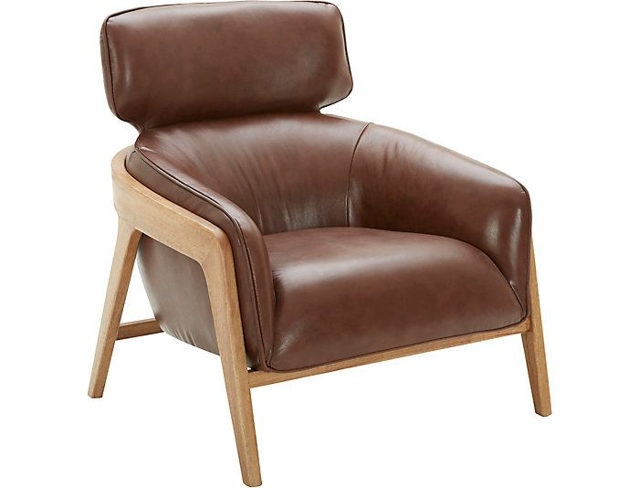 Venosa Leather Accent Chair Large Mattress Furniture Leather