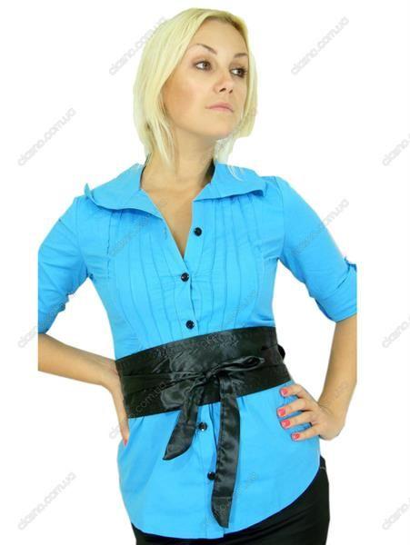 Бирюзовая рубашка женская