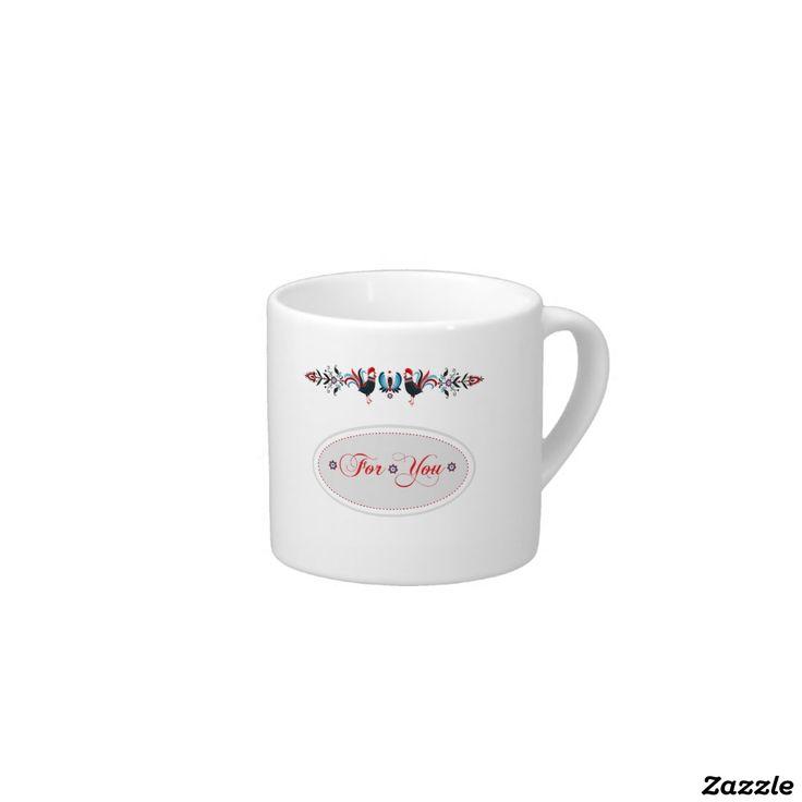 Espresso Mug- polish pattern folk