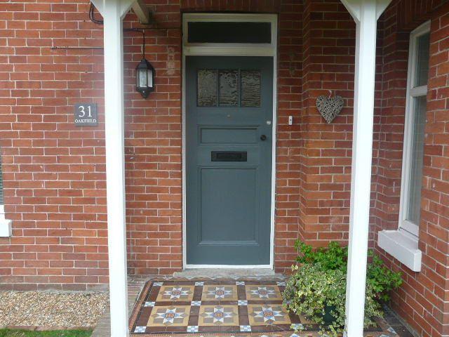 Front Door In Farrow And Ball Down Pipe Best Grey Front Door Paints Over On Modern Country