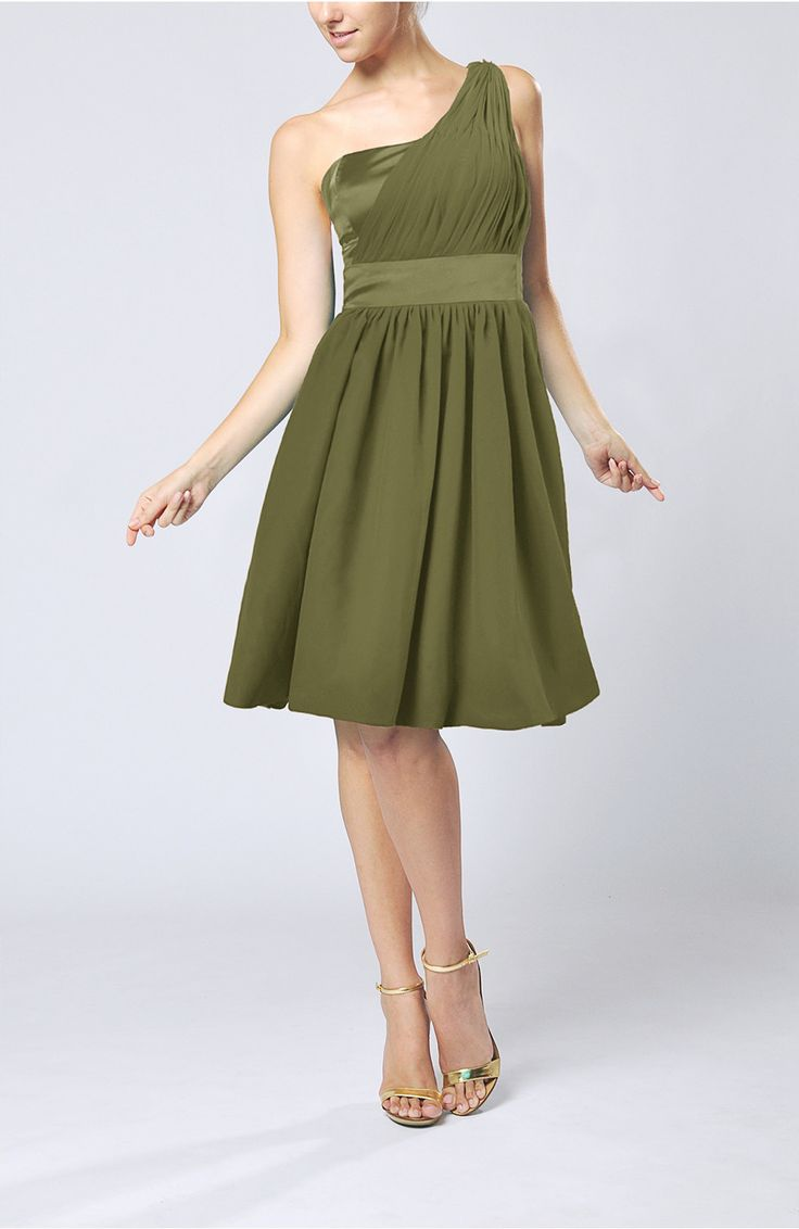 Pinterestteki 25den fazla en iyi olive green bridesmaid dresses olive green bridesmaid dress modern a line one shoulder sleeveless chiffon ombrellifo Images