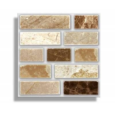 """STONE TABLET - 4"""" x 4"""" Tiles (10cm x 10cm)    18 TILES PER BOX   Each box will cover 2 sqr. ft. (0.2m)  No Cementing, No Grouting  Steam & Water Resistant    Easy to use Self Adhesive Wall #Tiles for Kitchens, Bathrooms, Worktops, Tabletops and Bedrooms.  Can be applied over any size existing tiles, directly onto the wall or onto any smooth non-porous surface.    #Kitchentiles #interiors #bathroomtiles #walltiles #home #diy"""