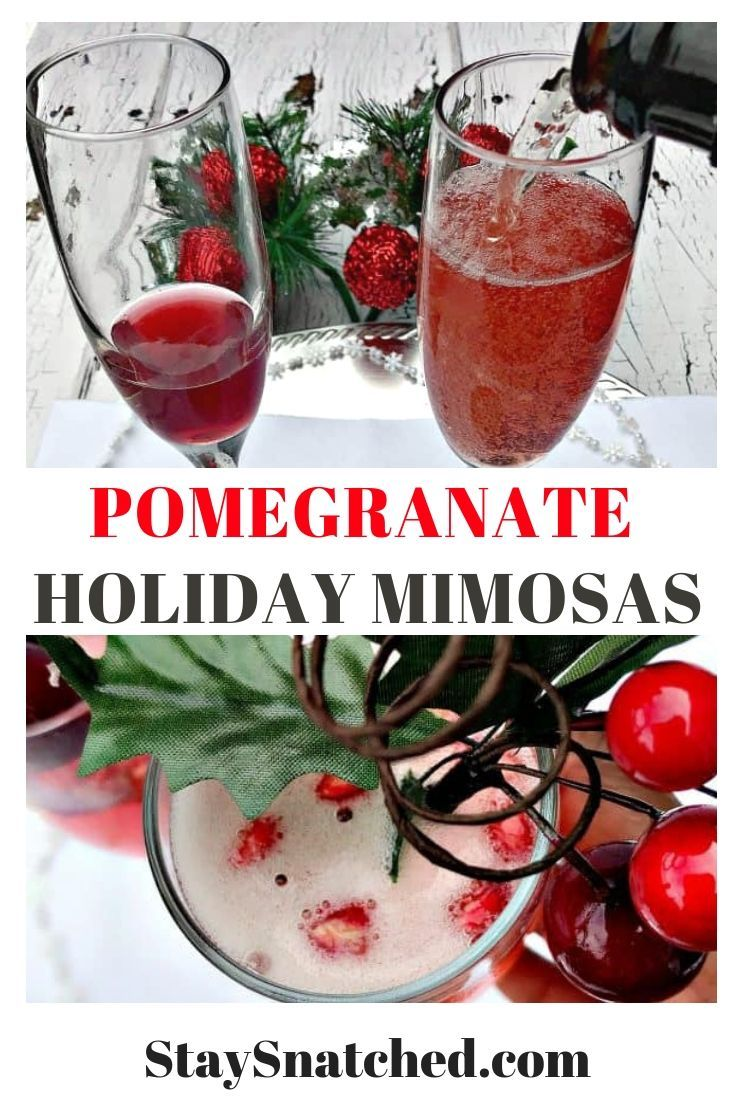 Pomegranate Holiday Mimosas Make The Perfect Drink For All Of The Holidays This Upcoming Season These Mimosas Are Als Easy Drink Recipes Recipes Brunch Drinks